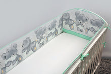 Load image into Gallery viewer, All Round Cot, Cot bed Bumper 4 Sided Pads with Mika - babycomfort.co.uk