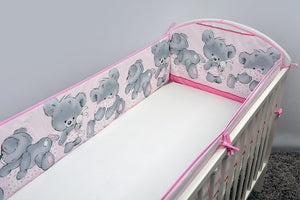 All Round Cot, Cot bed Bumper 4 Sided Pads with Mika - babycomfort.co.uk