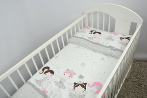 4 Piece Junior Bedding Set 150x120 cm Duvet and Pillow with Covers - babycomfort.co.uk
