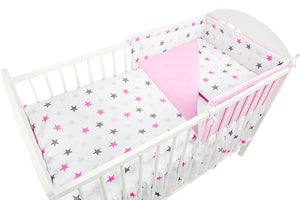 3 Pcs Piece Nursery Baby Bedding / Duvet Set Padded Safety Cot Bed Bumper - babycomfort.co.uk