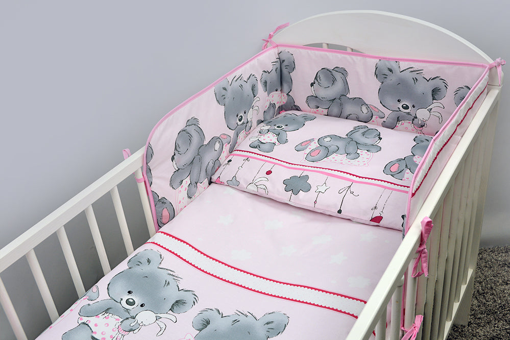 Baby Cot Cotton Fitted Sheet 120x60 cm, Fits Cot - - babycomfort.co.uk