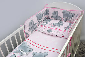 5 Piece Baby Nursery Cot Bedding Set Duvet Bumper Pillow - babycomfort.co.uk