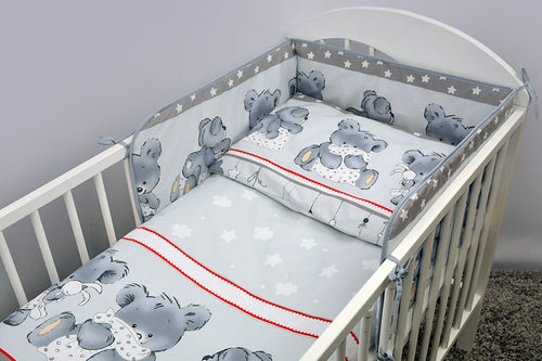 Junior Cot Bed Cotton Fitted Sheet 140x70 cm, Fits Cot Bed - - babycomfort.co.uk