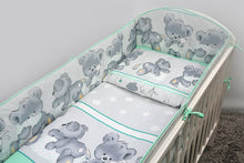 Load image into Gallery viewer, 4 Piece Toddler Kids Cot Bed Set 135x100 cm Duvet Pillow Duvet Cover Pillowcase - Mika - babycomfort.co.uk