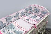 Load image into Gallery viewer, 6 Pcs Nursery Baby Cot Bed Bedding Set, All-Round Bumper 420cm, 140x70cm - Mika - babycomfort.co.uk
