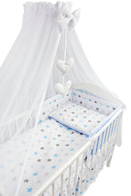 Load image into Gallery viewer, 7 Piece Nursery Cot Bedding Set / Pillowcase / Duvet Cover / Bumper / Canopy - babycomfort.co.uk