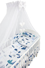 Load image into Gallery viewer, 7 Piece Baby Bedding Set / Pillowcase / Duvet / Quilt Cover / Bumper / Canopy - babycomfort.co.uk