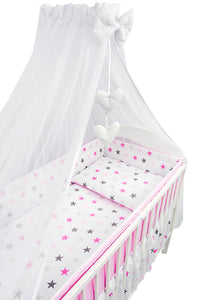 Chiffon Canopy Drape Mosquito Net + Holder Fits Baby Nursery Cot Bed - babycomfort.co.uk