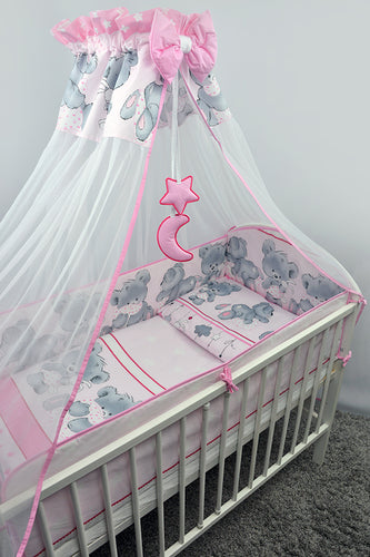 8 Piece Baby Bedding Set with All-Round Bumper to Fit 140 x 70 cm Cot Bed - Mika - babycomfort.co.uk