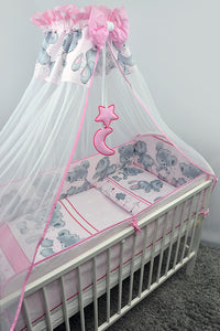 10 Piece Baby Cot Bed Bedding Set with All-Round 420 cm Bumper (140x70cm) - Mika - babycomfort.co.uk