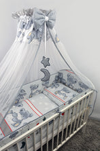 Load image into Gallery viewer, 10 Piece Baby Cot Bed Bedding Set with All-Round 420 cm Bumper (140x70cm) - Mika - babycomfort.co.uk