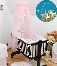 Load image into Gallery viewer, Crown Canopy / Drape / Mosquito Net + Holder To Fit Crib / Cradle / Moses Basket - babycomfort.co.uk