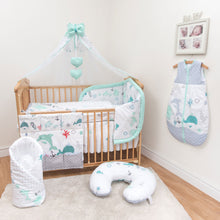 Load image into Gallery viewer, 12 Piece Cot Bedding Set with Padded Safety Bumper Fits Cot 120x60cm or Cot Bed 140x70cm - babycomfort.co.uk