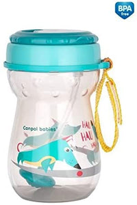 Baby Non-Spill Drinking Sip Cup with Folding Straw 350ml - babycomfort.co.uk
