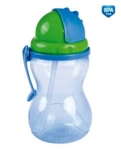 Baby Non-Spill Cup 370 ml Drinking Bottle with Straw - - babycomfort.co.uk