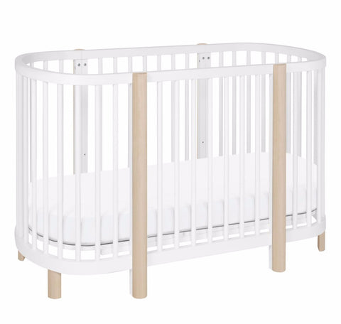 Babyletto Hula Convertible Crib White with Washed Natural