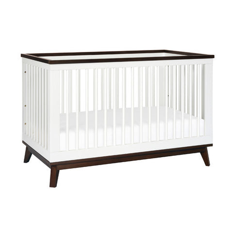 Babyletto Scoot 3-in-1 Convertible Crib White with Espresso