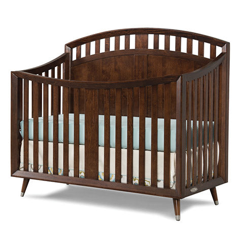 Child Craft Lincoln Park 4-in-1 Arch Top Convertible Crib in Chocolate
