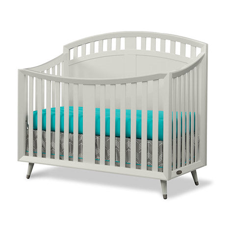 Child Craft Lincoln Park 4-in-1 Arch Top Convertible Crib in Matte White