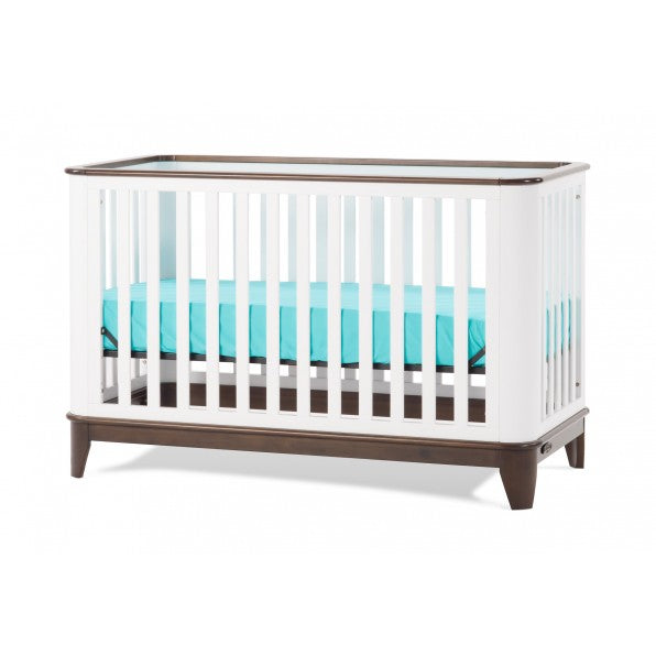Child Craft Studio 4-in-1 Convertible Crib in White-Slate