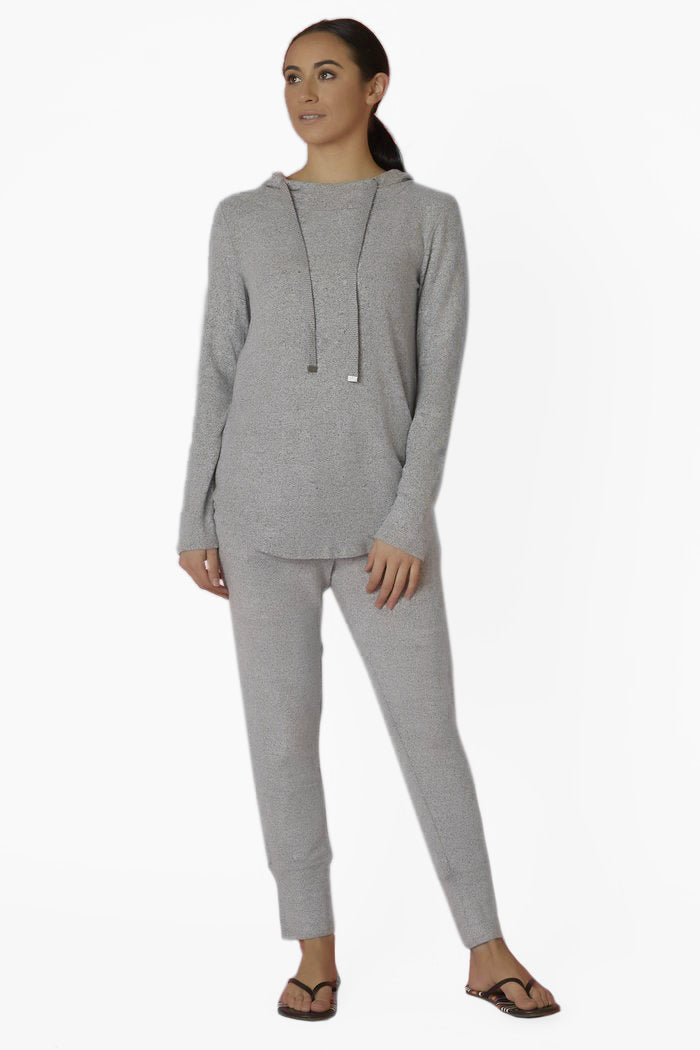 Bobeau Grey Hooded Sweatshirt