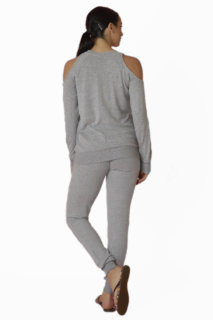 Z Supply Grey Cold Shoulder Sweatshirt - Love Leeann