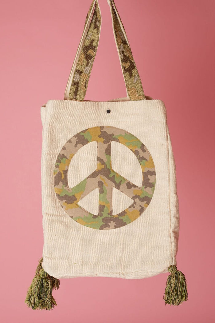 Z&L Peace Sign Tote - Love Leeann