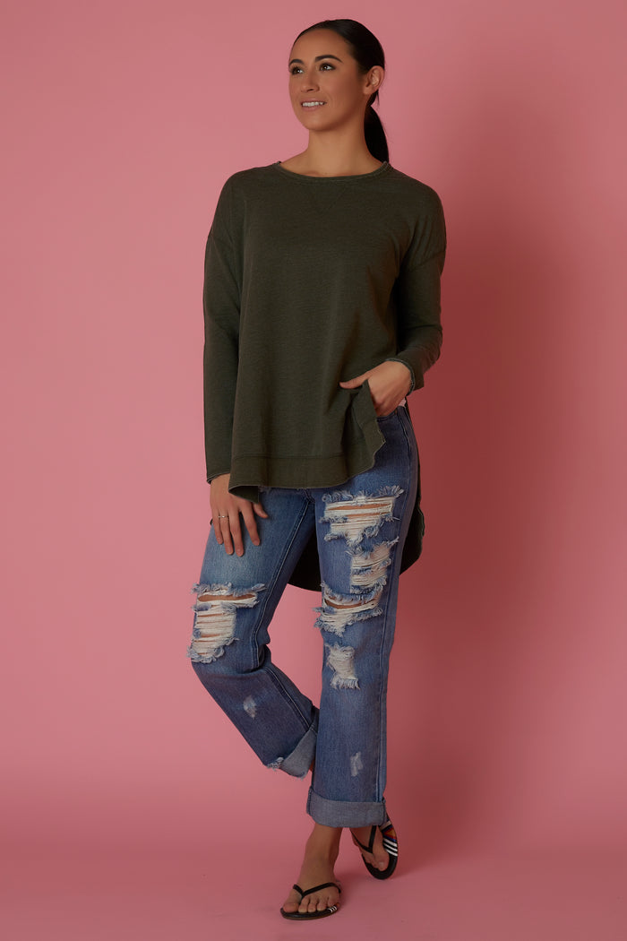 Z Supply Green Weekender Sweatshirt - Love Leeann