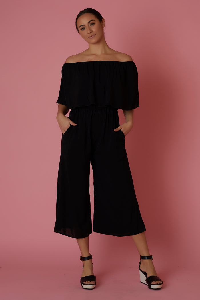 Elan Off The Shoulder Jumpsuit - Love Leeann