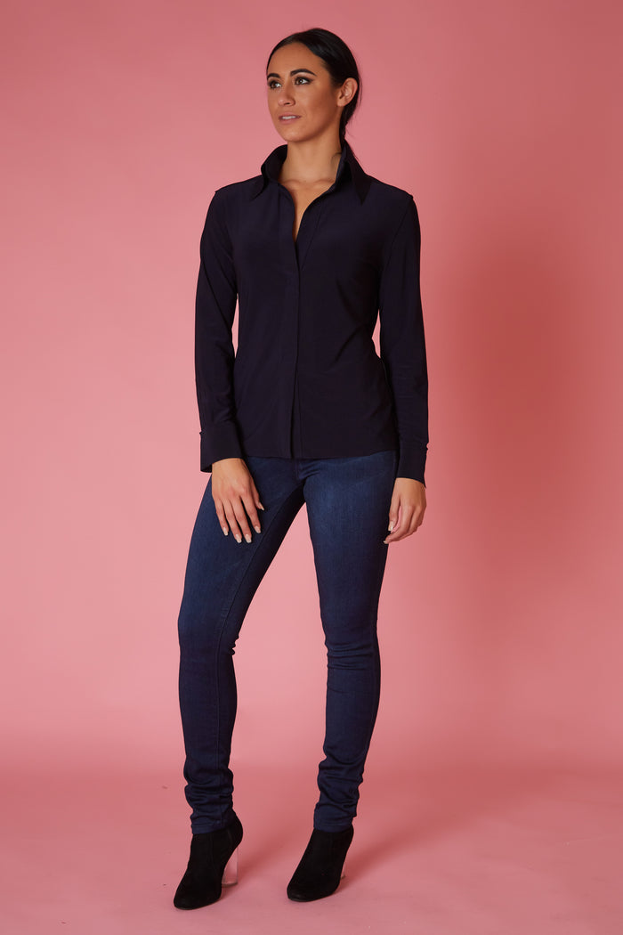 Norma Kamali Placket Long Sleeve - Love Leeann