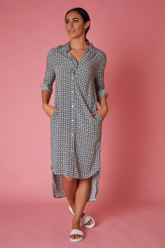 Velvet Heart Batik Shirt Dress - Love Leeann