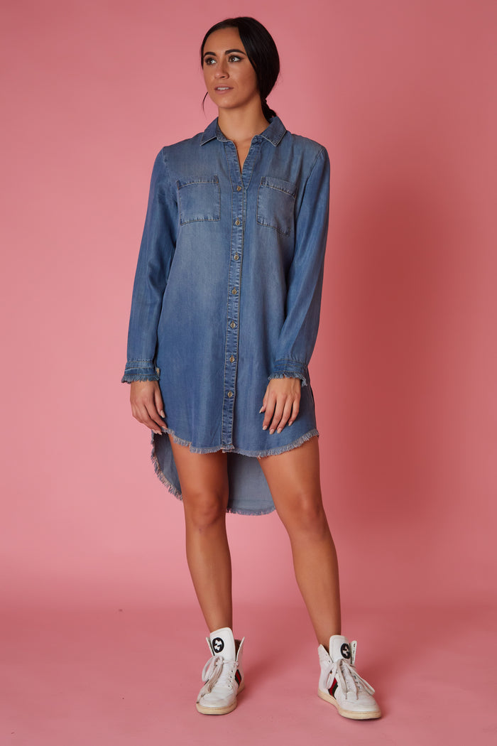 Velvet Heart Chambray Tunic - Love Leeann