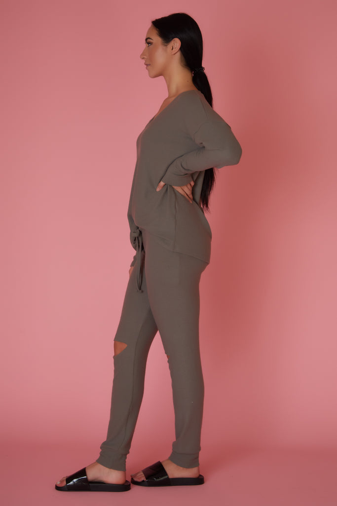 Michael Lauren Cozy Knit Pant - Love Leeann