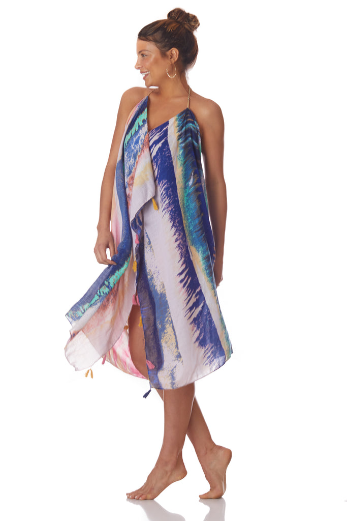 Pool to Party Multi Color Halter Dress - Love Leeann
