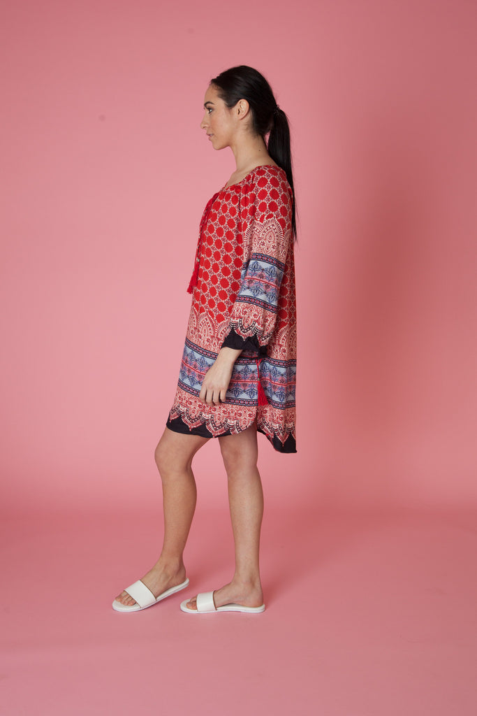 Prep School Printed Dress - Love Leeann