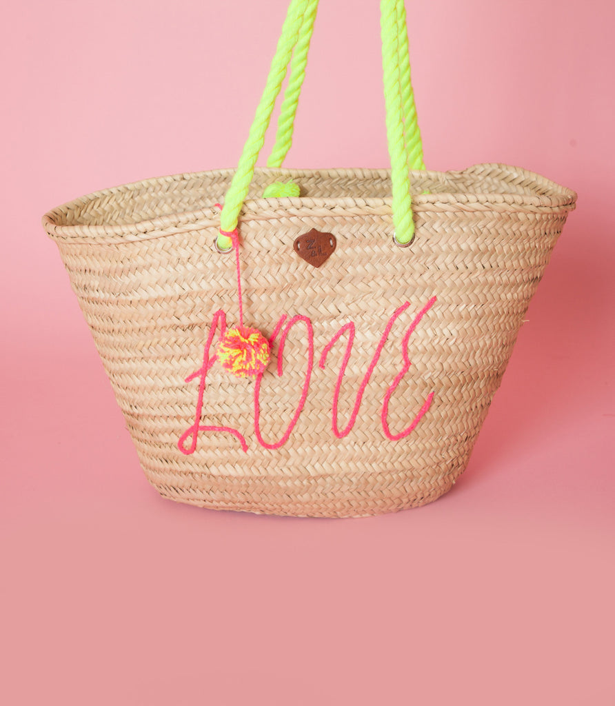 LOVE Straw Bag - Love Leeann