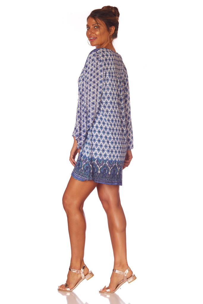 Angie Everyday Aztec Mini Dress - Love Leeann