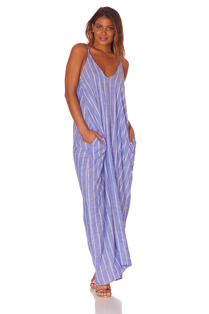 Elan Stripe Maxi with Pockets - Love Leeann