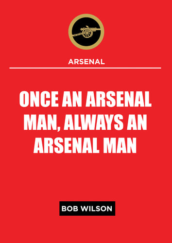 Arsenal One Man Poster