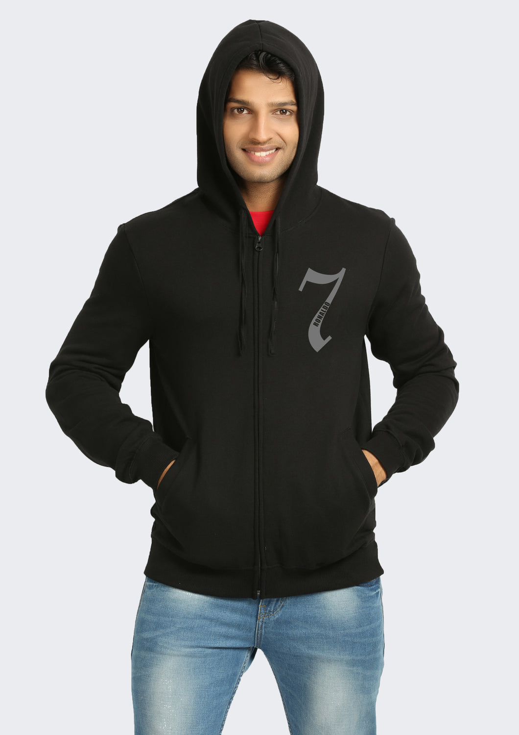 Real Madrid Cristiano Ronaldo Black Hoodie Front