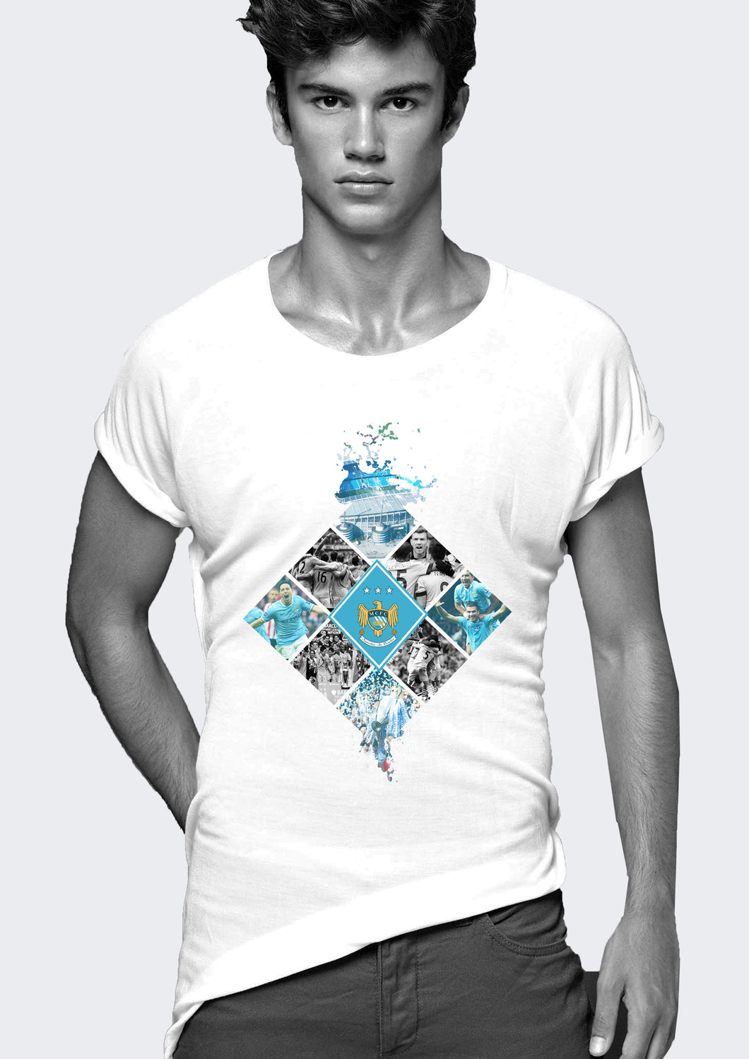 Manchester City Collage T-Shirt