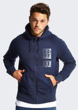 Real Madrid Navy Blue Hoodie Front