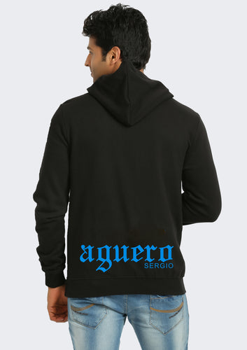 Manchester City Sergio Aguero Hoodie Back