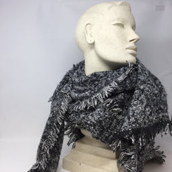 Scarf Soft Marled Black Grey