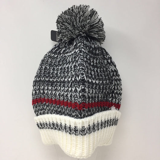 Dark Grey Hat with Stripe