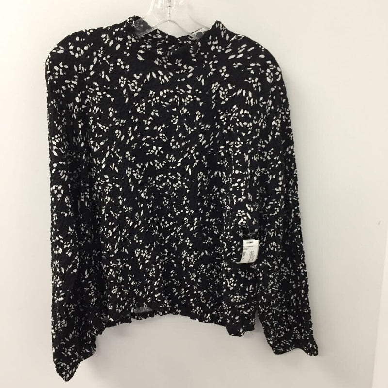ZARA WOMEN'S BLOUSE/SHIRT BLACK WHITE XL