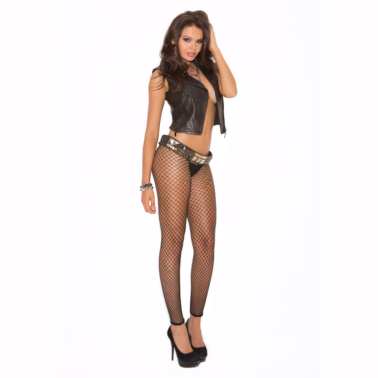 Elegant Moments Plus Size Footless Fence Net Tights