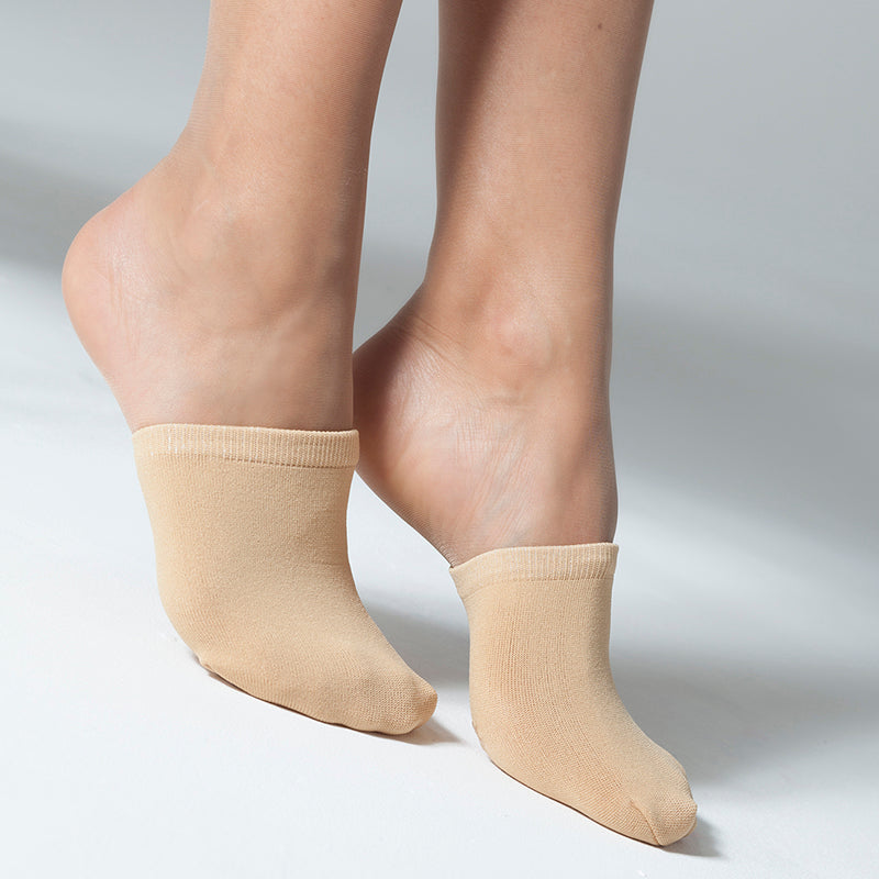 Gipsy 1/2 Foot Mule Socks With Non Slip Sole