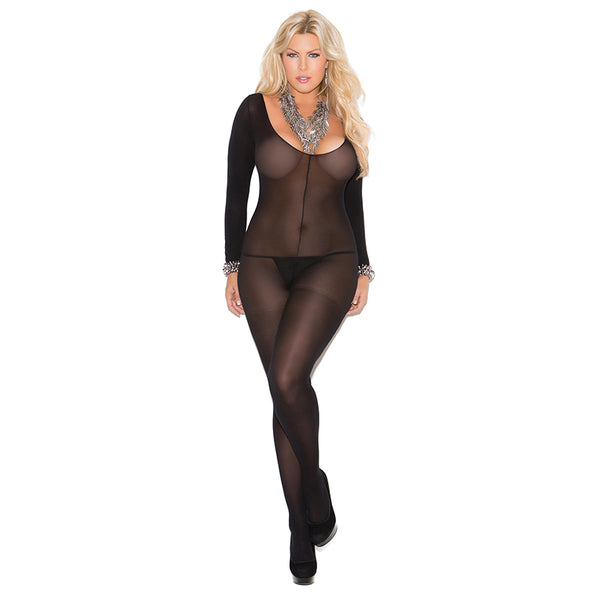 Elegant Moments Semi Opaque Long Sleeve Bodystocking