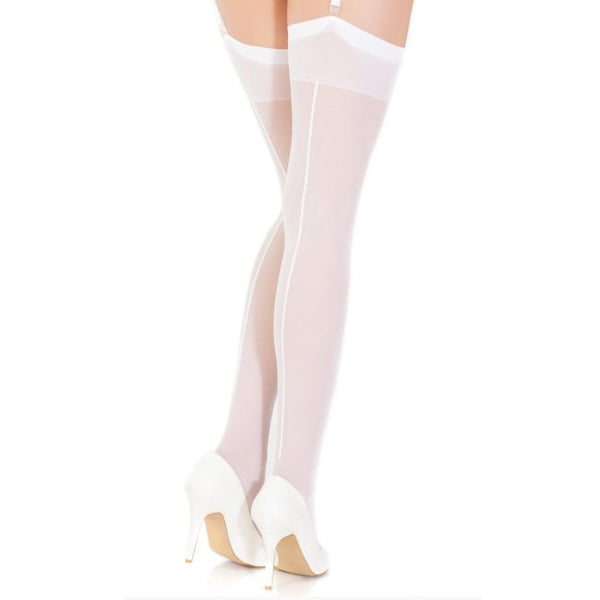 Coquette Sheer Seamed Thigh High Stockings